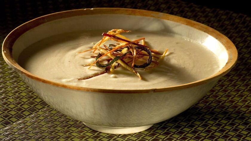 Potato green chile soup.