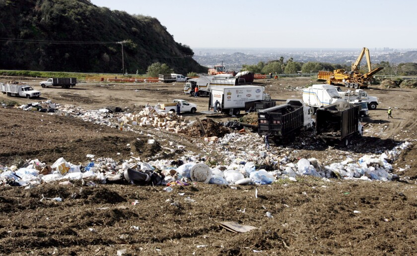 This February 2012 file photo shows the Scholl Canyon Landfill. The Glendale City Council on Tuesday voted 5-0 in favor of a feasibility study to determine if the landfill is an appropriate site for installing 100 acres worth of solar panels.