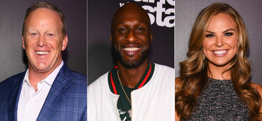 'DWTS': Sean Spicer, left, Lamar Odom and Hannah Brown are part of the 2019 cast.