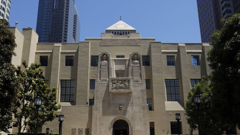 LOS ANGELES, JUNE 15, 2017 -- The Los Angeles Public Library in downtown Los Angeles on June 15, 201