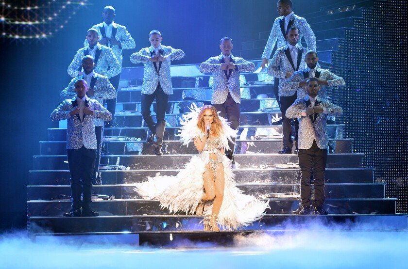 "Jennifer Lopez on opening night of her new Las Vegas residency, ""All I Have."""