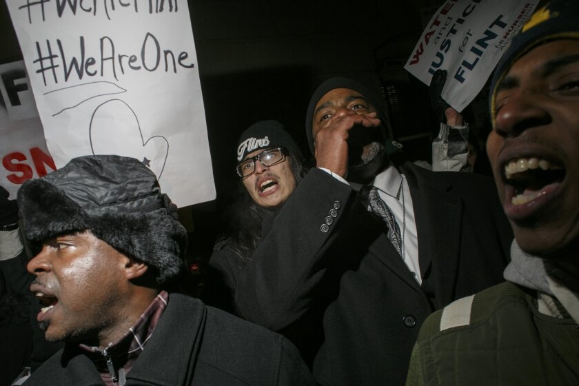 Flint  protesters