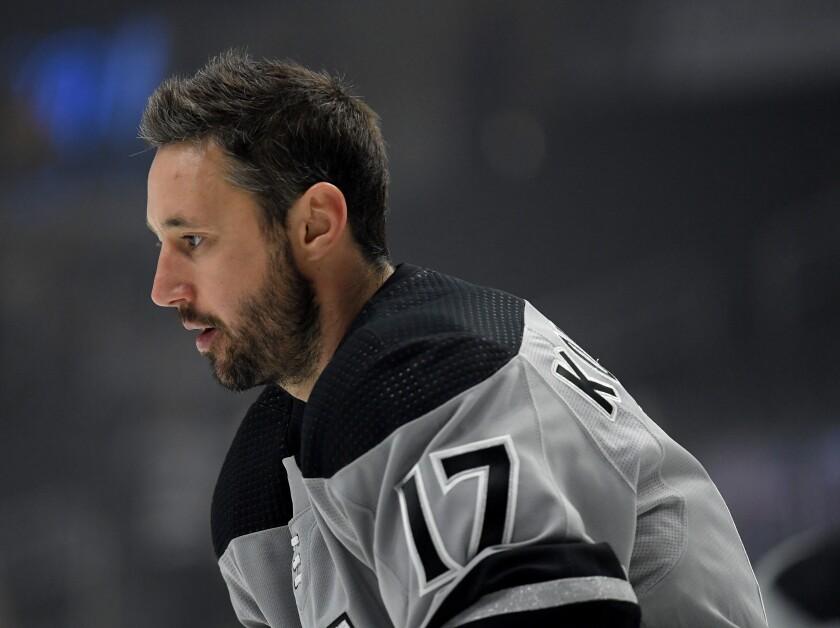 Ilya Kovalchuk skates before the Kings' game against the Nashville Predators on Oct. 12 at Staples Center.