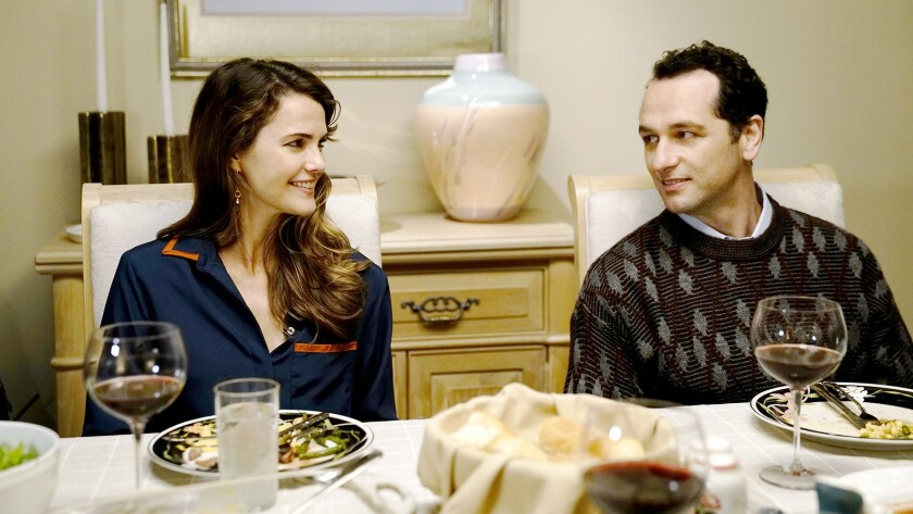 "Keri Russell and Matthew Rhys in the premiere episode of the final season of the spy thriller ""The Americans"" on FX."