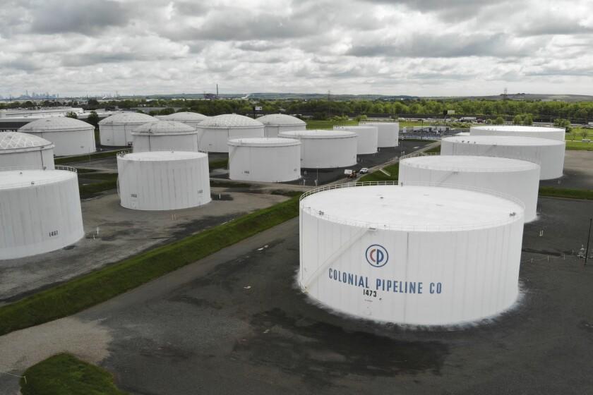 Colonial Pipeline storage tanks in Woodbridge, N.J.