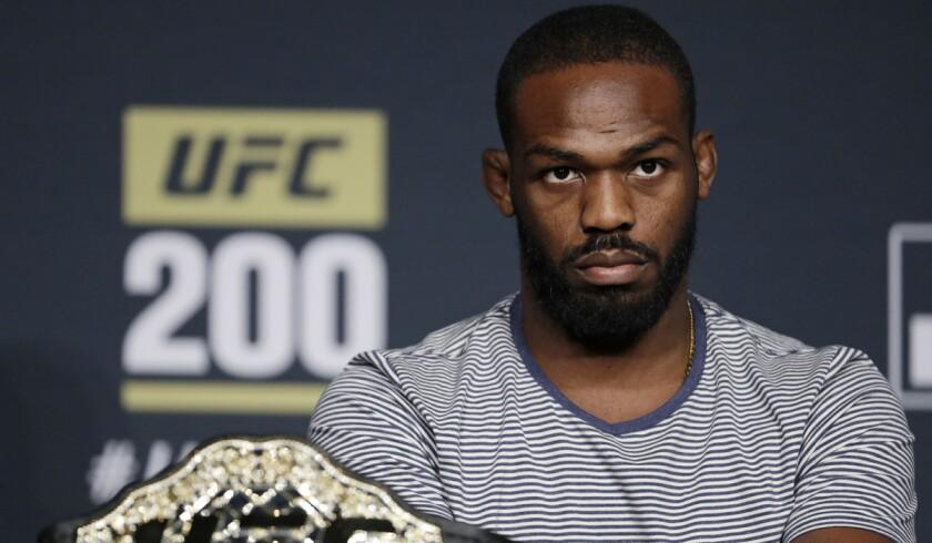 Jon Jones attends a UFC 200 news conference Wednesday in Las Vegas.