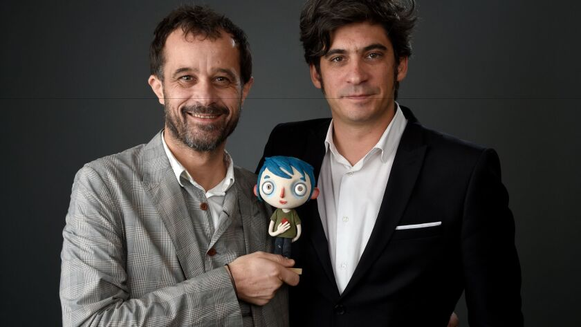 """My Life as a Zucchini"" director Claude Barras, left, and producer Max Karli at the 89th Academy Awards Nominees Luncheon."