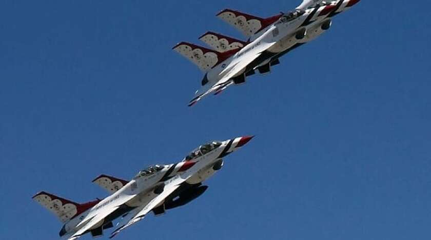 After leaving San Diego County, the Thunderbirds continued to Orange and Los Angeles counties.