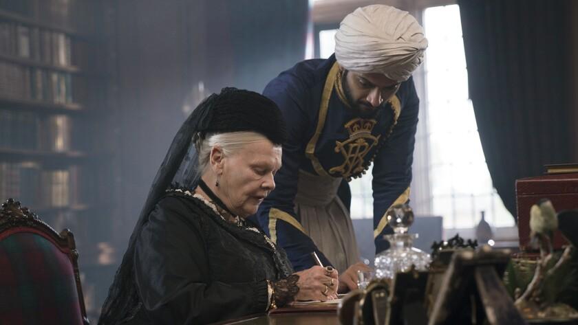 "Judi Dench and Ali Fazal in the 2017 movie ""Victoria and Abdul"" on HBO."