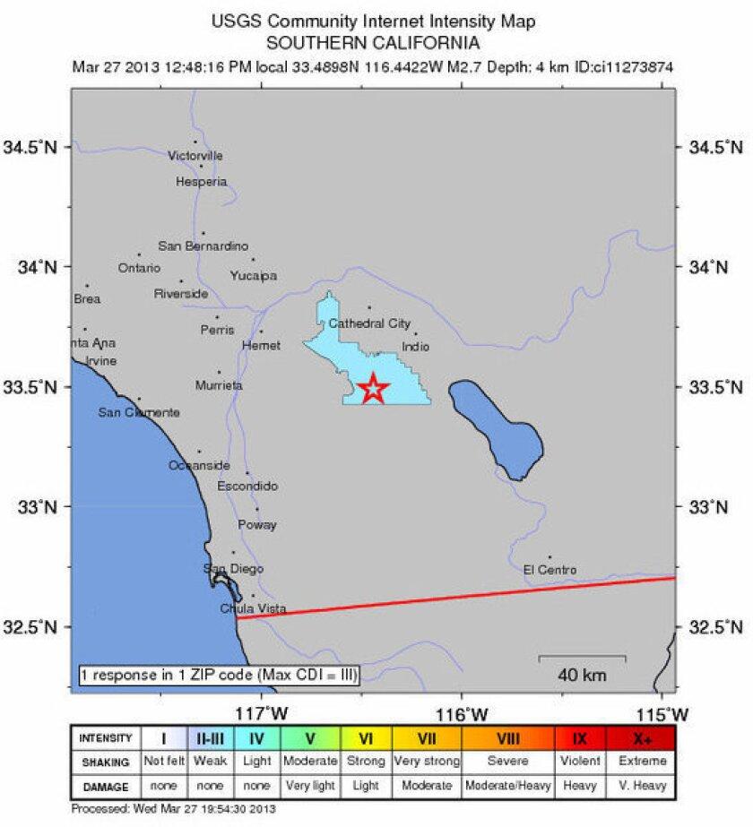 String of earthquakes strikes California desert area