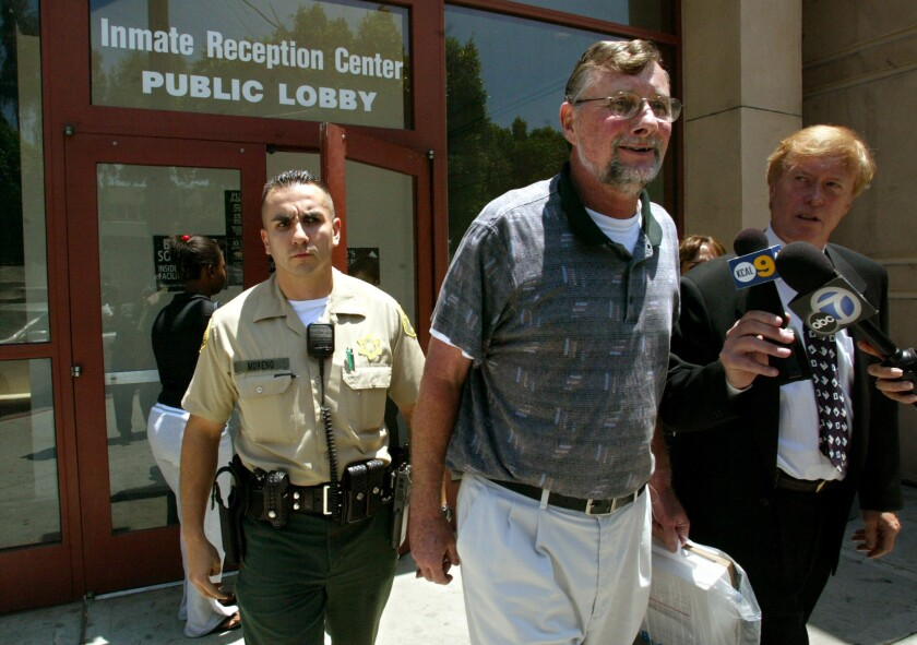 Retired priest Michael Wempe, 63, after a judge ordered his release on his own recognizance following a U.S. Supreme Court ruling that California violated the Constitution when it passed a law to revive criminal prosecutions in long¿ago sexual¿abuse cases.