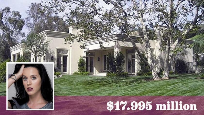 Katy Perry has purchased the Beverly Crest home of speculative developer Cody Leibel for $17.995 million.