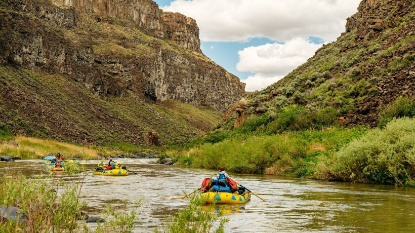 Rafting the Owyhee River in Oregon by Northwest Rafting Company.