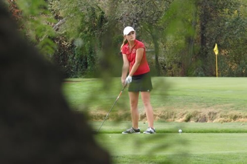Daniela Anastasi competes at the CIF state championship. Courtesy