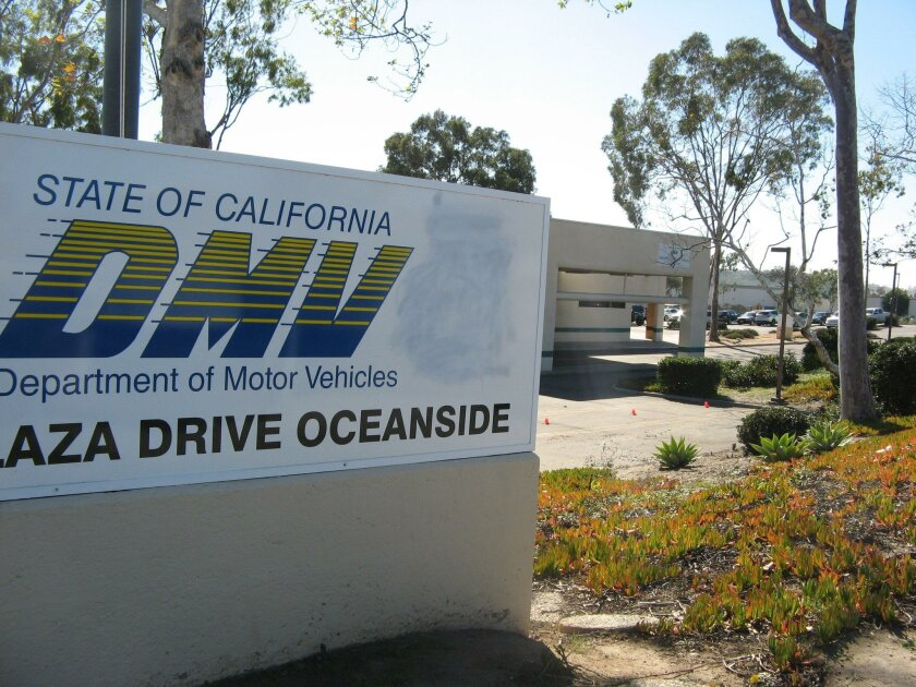 The DMV office in Oceanside was evacuated Thursday after someone placed an ammunition canister near a parked CHP patrol car then walked off. The device was later deemed harmless.