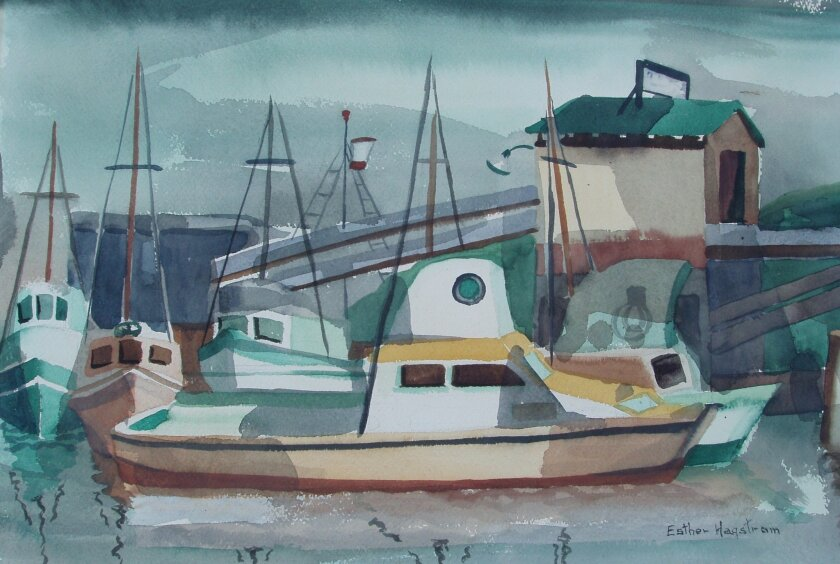 """""""Marina,"""" by Esther Painter Hagstrom, who taught art at Coronado High School from 1939 to 1951. Her work, along with those of her students, are featured in a new exhibit at the Coronado Public Library, """"Art Through the Generations."""" The exhibited was curated by Hagstrom's granddaughter, Suzy Hagstr"""