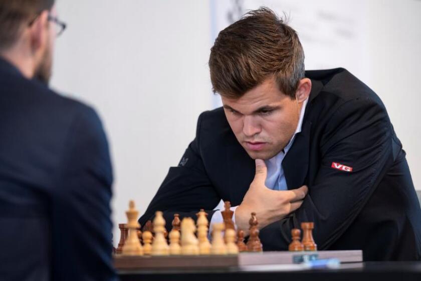 El noruego Magnus Carlsen durante un torneo. EFE/Archivo