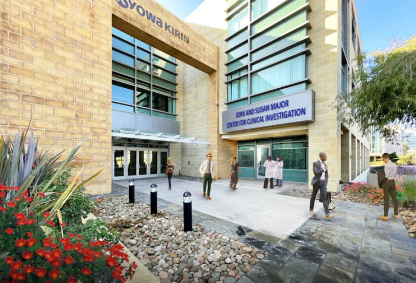 A rendering depicts the John and Susan Major Center for Clinical Investigation at the La Jolla Institute for Immunology.