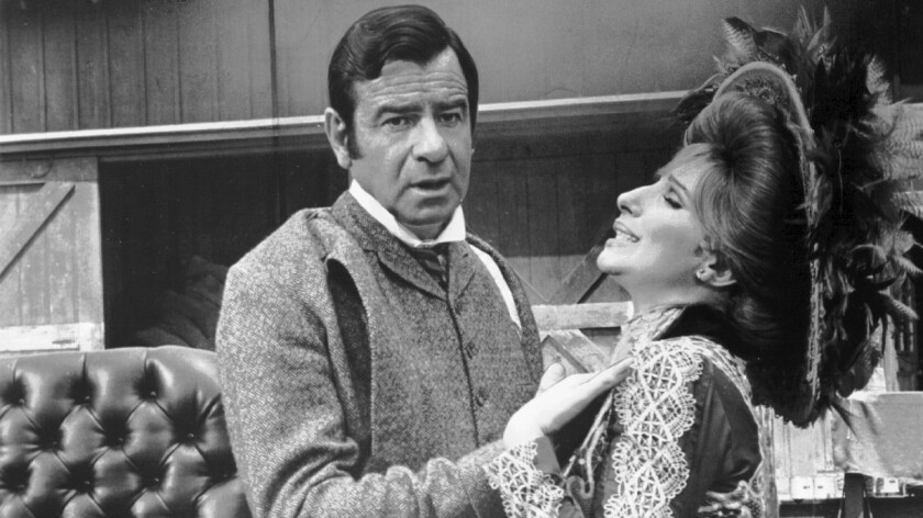 "Walter Matthau and Barbra Streisand in ""Hello, Dolly!"""