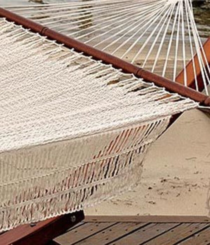 THERE'S NOTHING LIKE IT: A hammock just says kick back, relax.