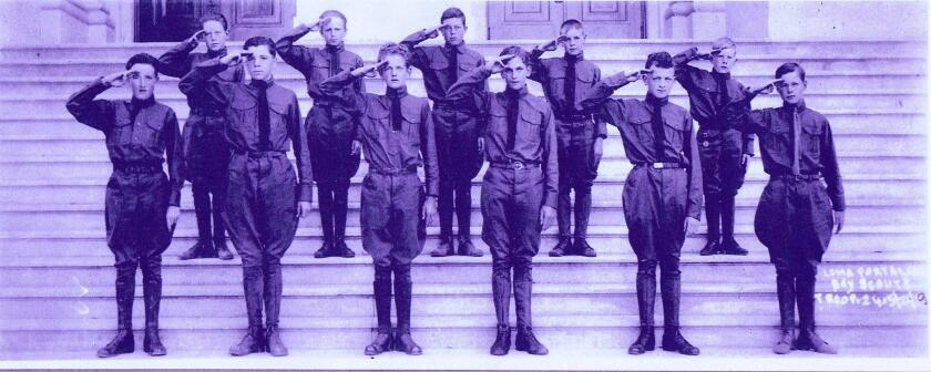 Troop 24 formed in 1918 with 11 Boy Scouts and was sponsored by Loma Portal Elementary School.