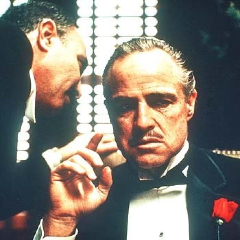 "Marlon Brando in ""The Godfather"" (1972)."