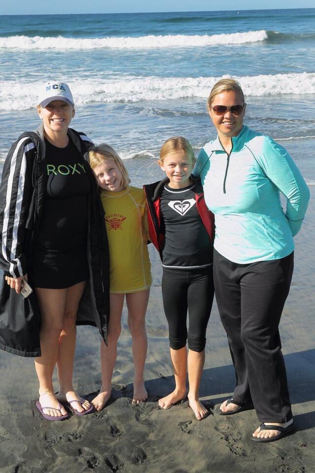 Erika and Gisele Patron, Samantha and Lori Brockett