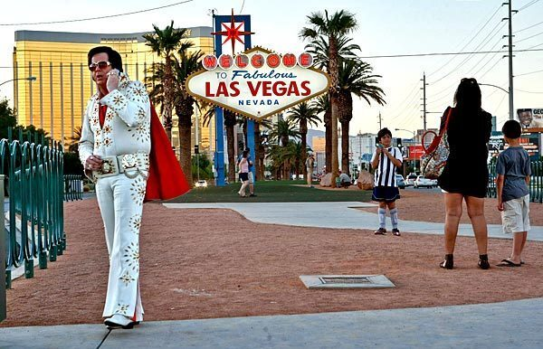 Las Vegas' welcome sign
