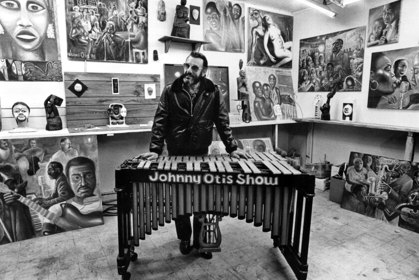 Johnny Otis, blues and gospel band leader and preacher, in 1985.