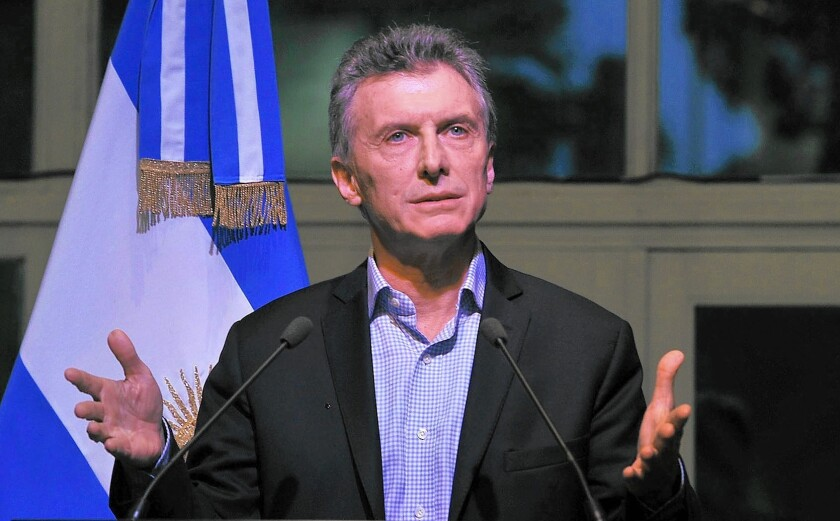 Argentine President Mauricio Macri made the bond settlement a promise of his election campaign.