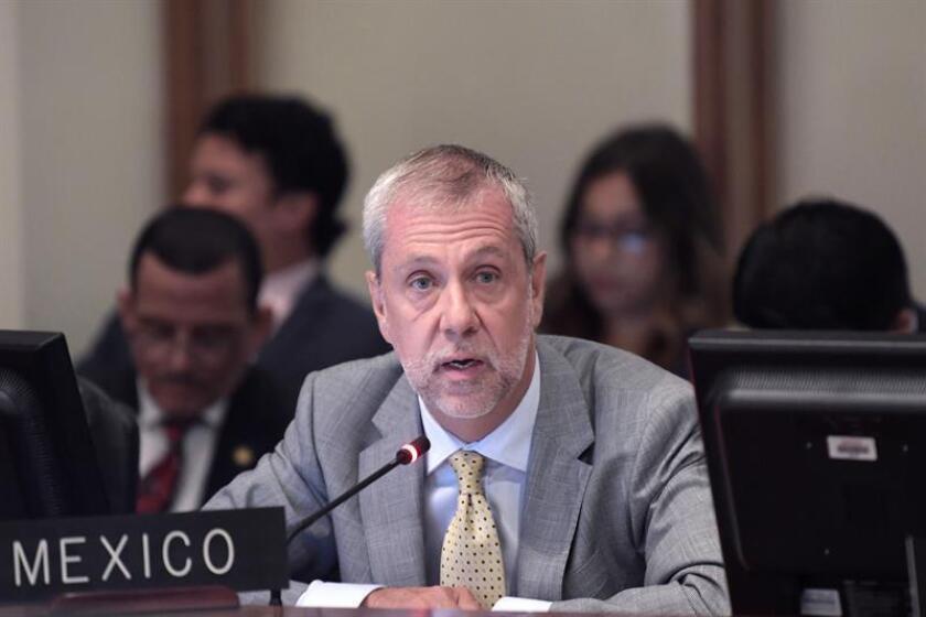 El representante permanente de México ante la Organización de Estados Americanos (OEA), Jorge Lomónaco. EFE/Archivo