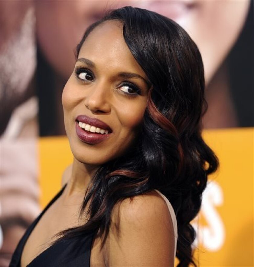 "Kerry Washington arrives at the world premiere of ""Peeples"" at the ArcLight Hollywood on Wednesday, May 8, 2013 in Los Angeles. (Photo by Richard Shotwell/Invision/AP)"