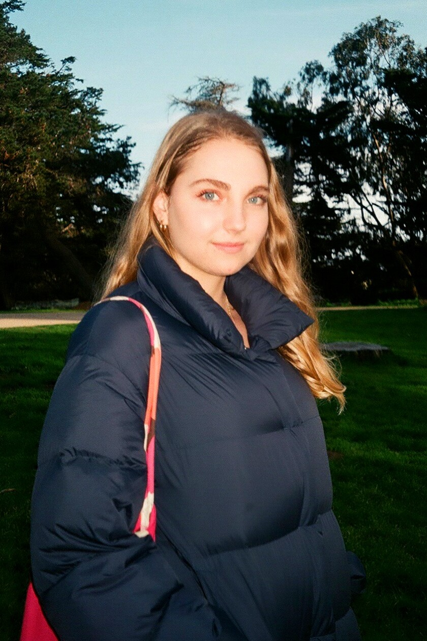 Olivia Campbell, a 21-year-old environmental sciences major at UC Berkeley.