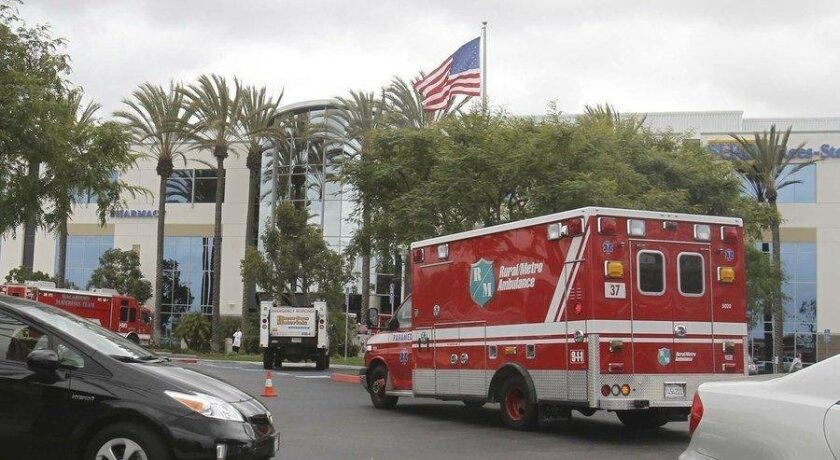 American Medical Response provides ambulance service in San Diego.