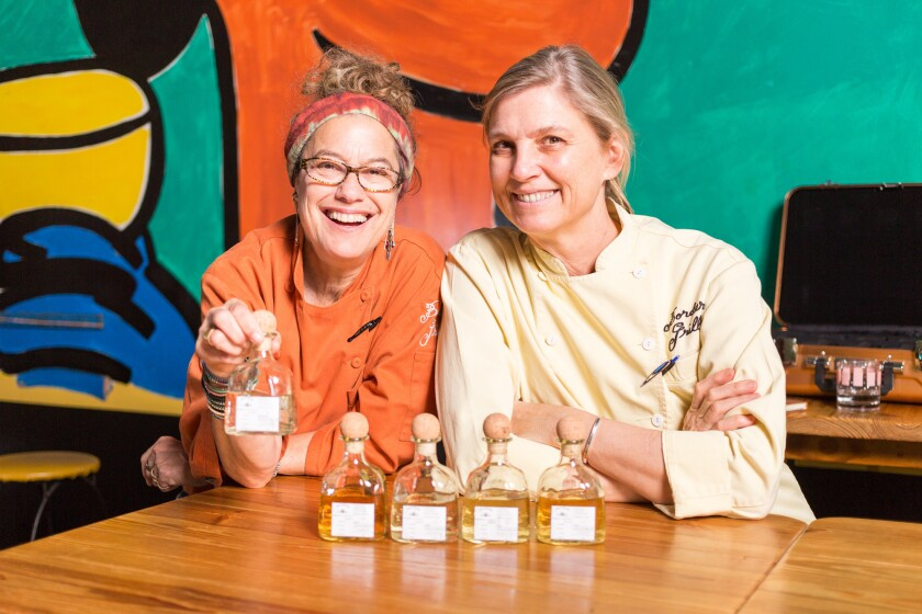 Chefs Susan Feniger, left, and Mary Sue Milliken at their restaurant Border Grill in Santa Monica, which is closing after 26 years.