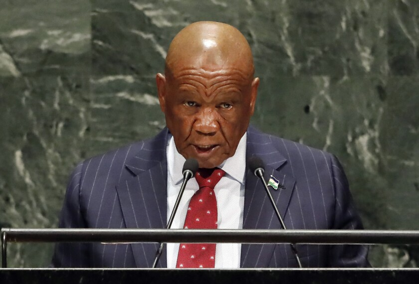 Lesotho First Lady Accused
