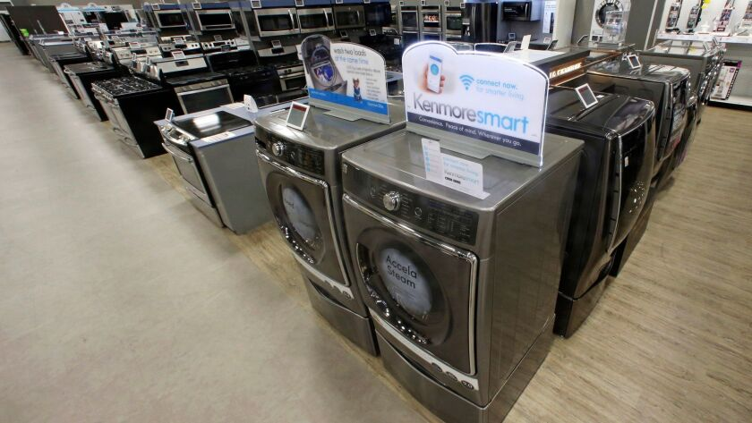 Kenmore appliances are on display at a Sears store in West Jordan, Utah, in 2017.