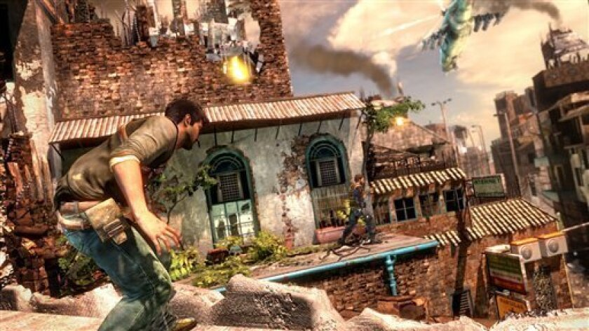 "FILE - In this file video game image released by Sony Computer Entertainment America Inc., a scene is shown from ""Uncharted 2: Among Thieves."" (AP Photo/Sony Computer Entertainment America Inc., file)"