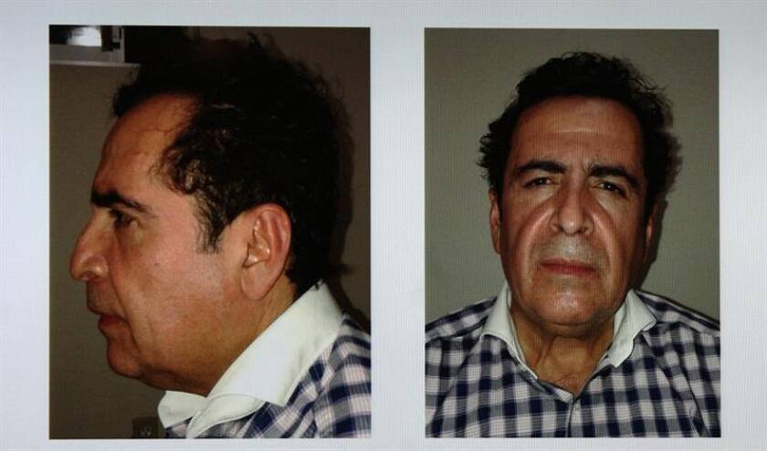 Reproducción fotográfica de un combo de imágenes presentadas por la Procuraduría General de la República, que muestran al capo Héctor Beltrán Leyva el miércoles 1 de octubre de 2014, en Ciudad de México (México). EFE/Procuraduría General de la República