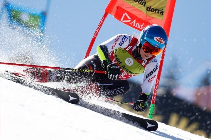 Mikaela Shiffrin, shown during a 2019 competition in Soldeu, Andorra, returned to World Cup racing on Nov. 21, 2020.