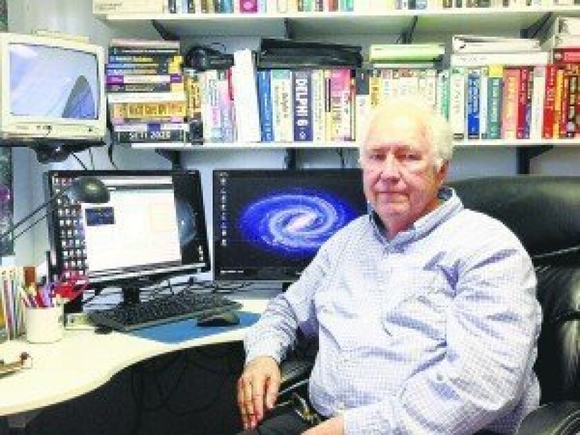 Del Mar's James Brown built SETI Network to search for extraterrestrial intelligence. Photos/Kristina Houck