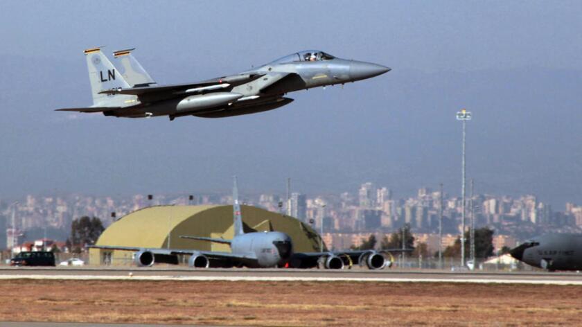Un U. S. Air Force F15. (Associated Press)