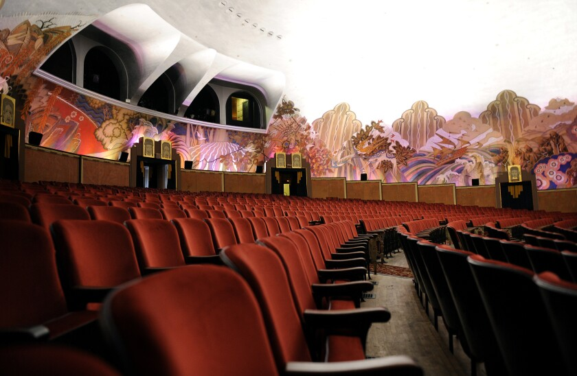 The interior of the Avalon Theater