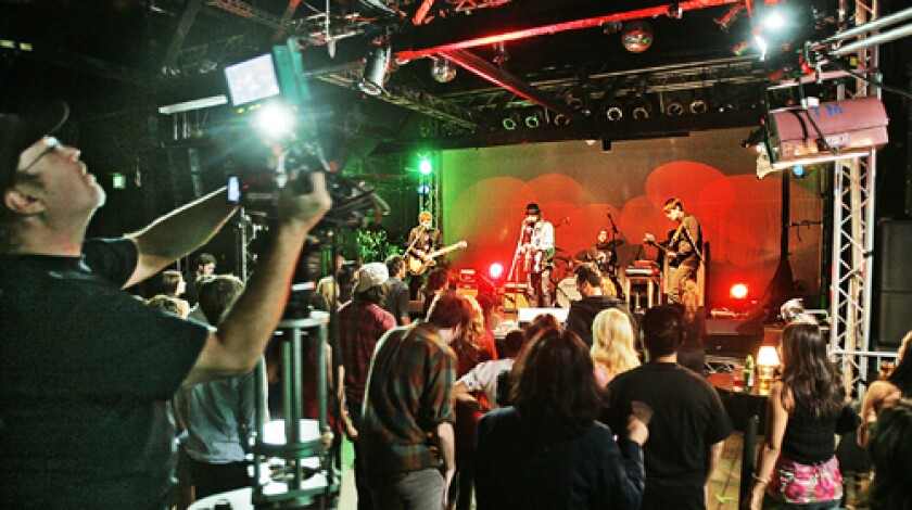 """POWER POP: Phantom Planet performs during a taping of """"Rockville, CA,"""" an upcoming Web series from Josh Scwartz. The spirit of liver performances is integral to the series."""