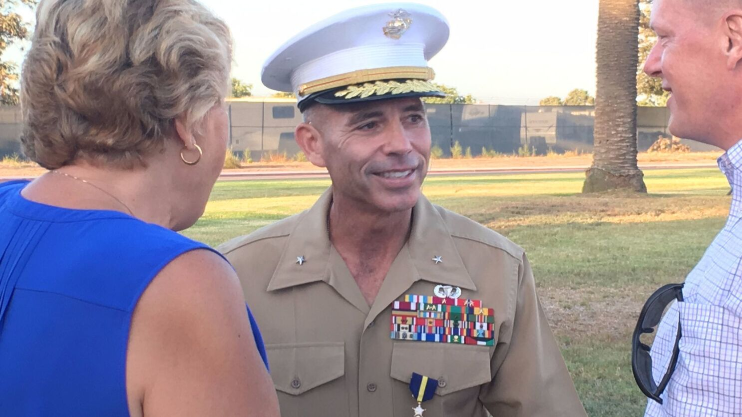 From private to one-star, Marine retires in honor - The San Diego
