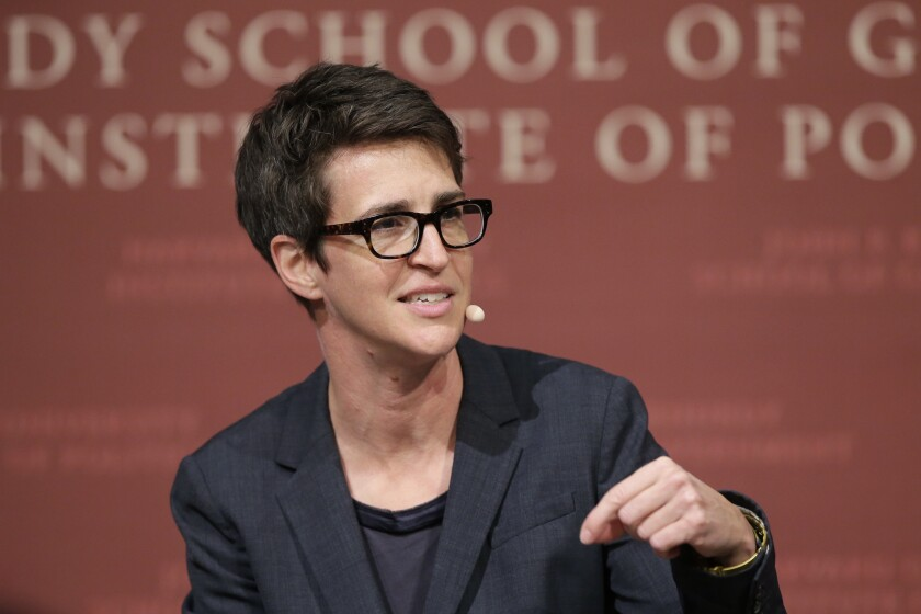 "MSNBC television anchor Rachel Maddow, host of ""The Rachel Maddow Show"""