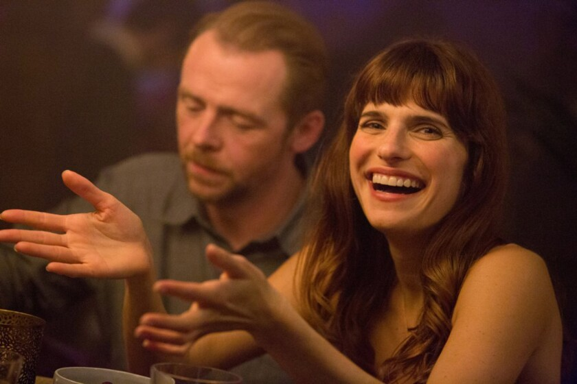 """Simon Pegg and Lake Bell in """"Man Up."""""""