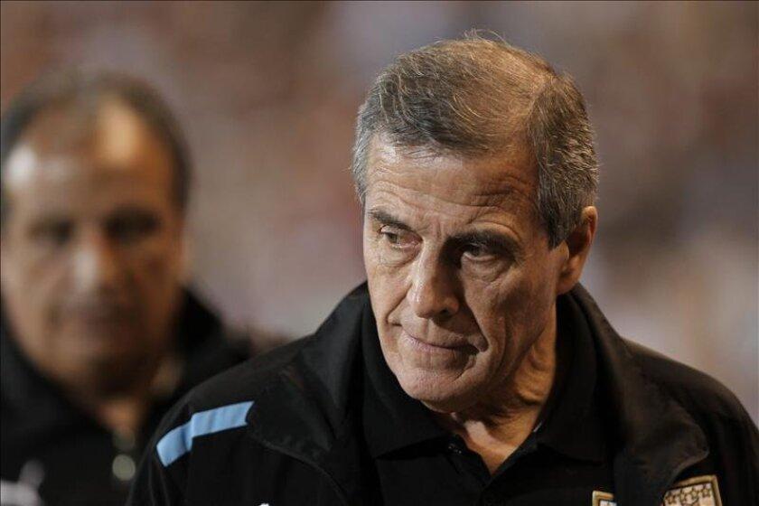 El seleccionador de fútbol de Uruguay, Oscar Washington Tabárez. EFE/Archivo