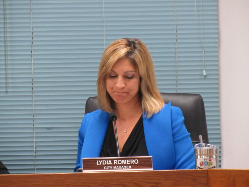 The Lemon Grove City Council has not finished City Manager Lydia Romero's required 2018 performance evaluation. Mayor Racquel Vasquez said the city will continue her 2019 evaluation this summer.