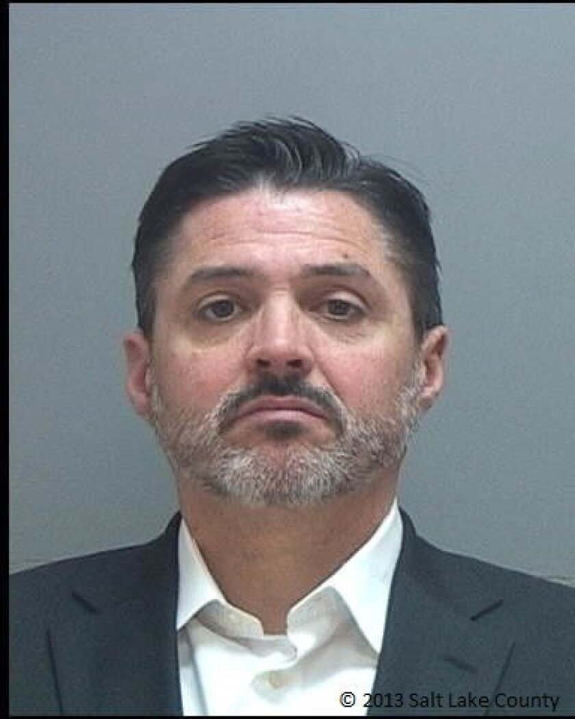 This undated handout photo provided by Salt Lake County Sheriff's Office shows Sean B. Hosman. Hosman's company has sold risk and needs assessment tools to governments from Florida to California. A repeat offender himself after battling addiction problems, Hosman has undergone such assessments. He